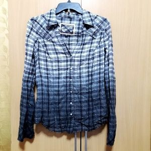 GUESS Ombre/Gradient Plaid Shirt